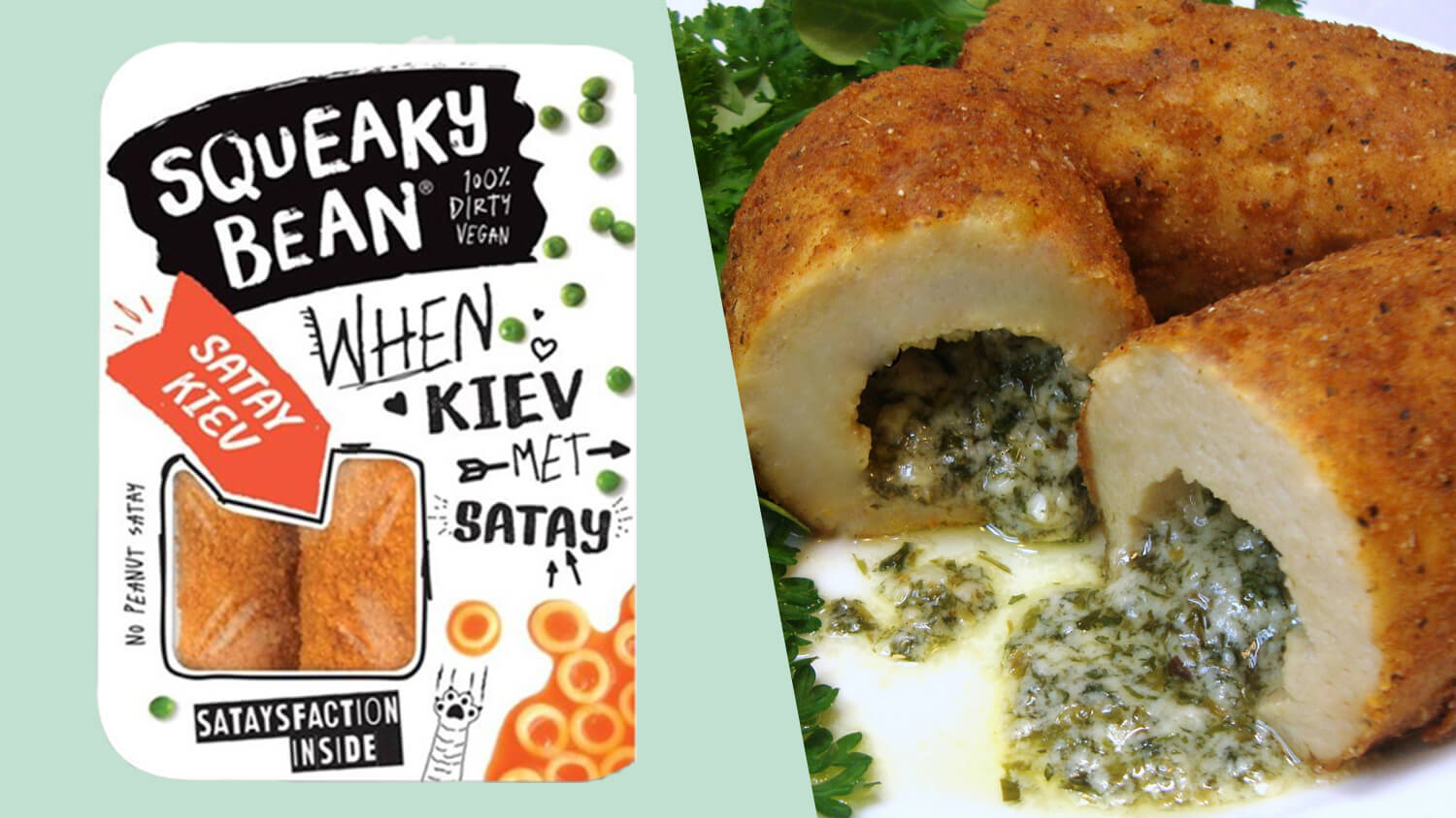 Squeaky Bean Launches Vegan Range Featuring Chicken Satay Kiev and Nuggets