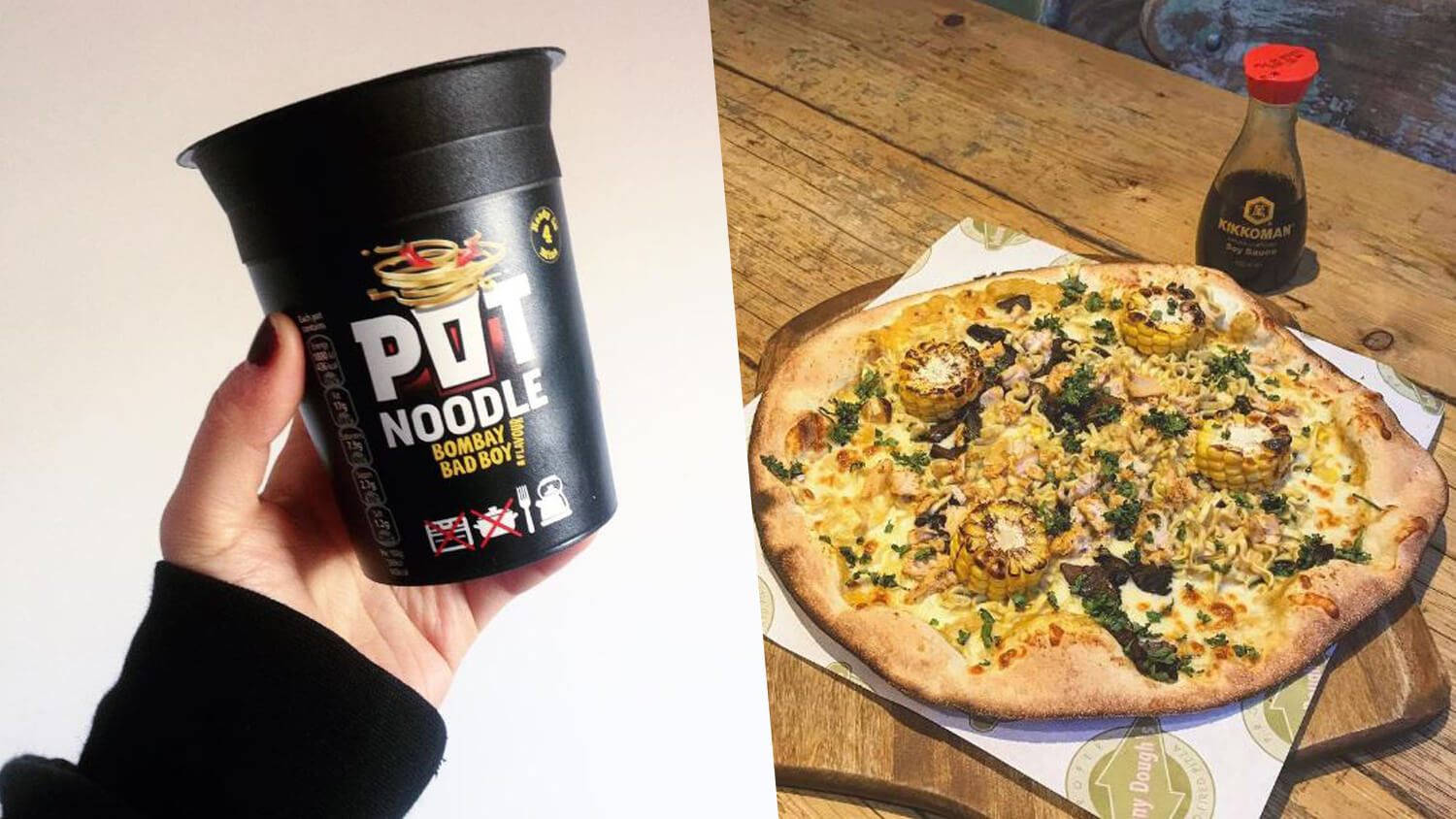 Llandudno's Pizzeria Johnny Dough's Launches Vegan Beef and Tomato and Bombay Badboy Pot Noodle Pizza