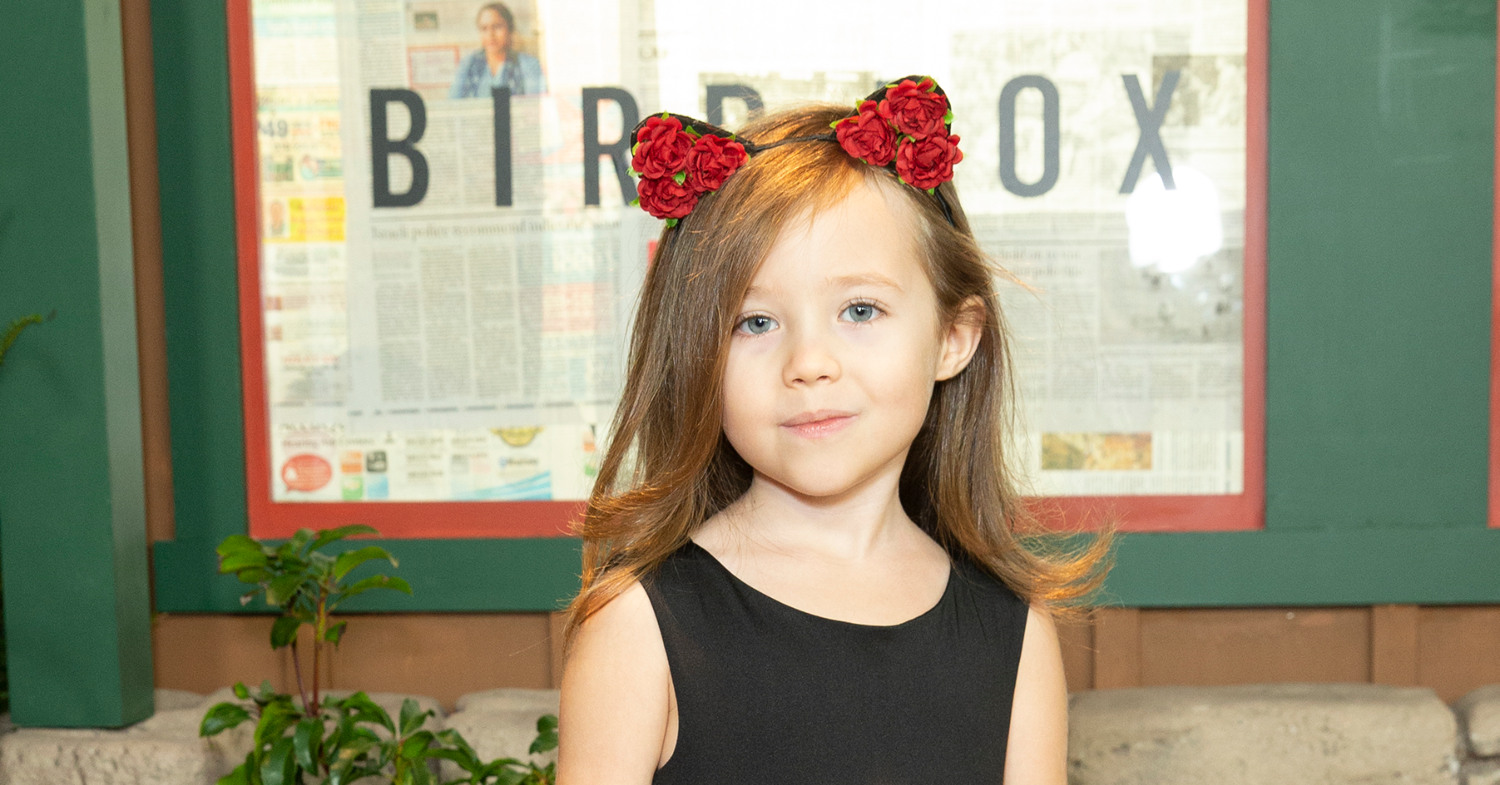 Photo of young Bird Box star Vivien Lyra Blair, who is all about being a vegetarian.