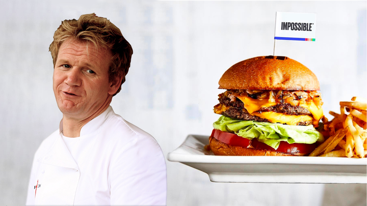 Vegan Impossible Burgers Are on the Way to Gordon Ramsay's Restaurant