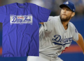 The LA Dodgers Are Selling Official Dairy-Free Tees