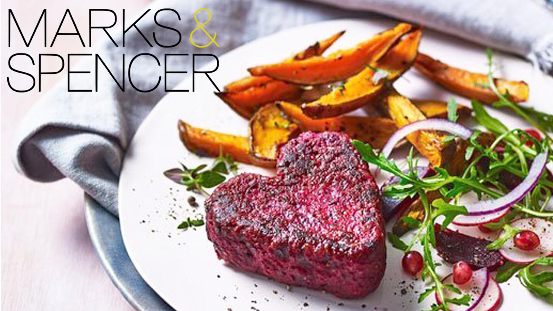 Vegan Heart 'Beet' Burgers Launch at Marks & Spencers