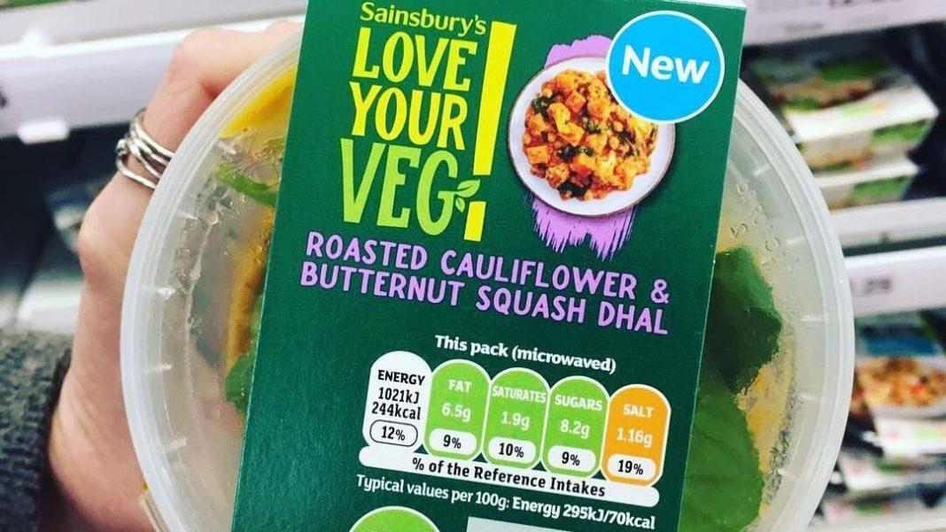 Vegan Product Sales Increase 65% at Sainsbury's