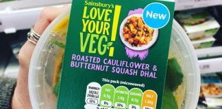 Vegan Product Sales Increase 65% at Sainsbury's