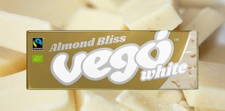 The New Vegan Vego White Chocolate Bar Is Pure Magic