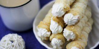 Vegan White Chocolate Horns With Dairy-Free Cream
