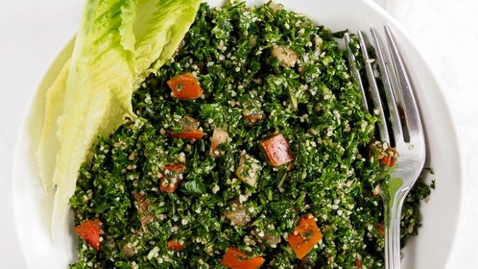 Gluten-Free Vegan Tabbouleh With Cauliflower Couscous