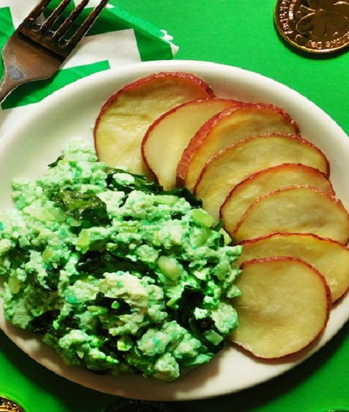 Vegan Green Eggs and Meatless 'Ham' With Spinach