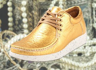 Your Golden Vegan Pineapple Leather Sneakers Have Arrived