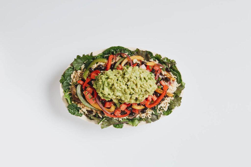 Photo of Chipotle salad bowl.