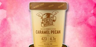 Tesco Has Dairy-Free Caramel Pecan Ice Cream