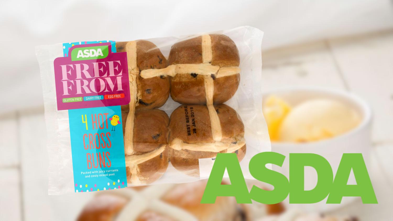 Vegan Hot Cross Buns Now at ASDA