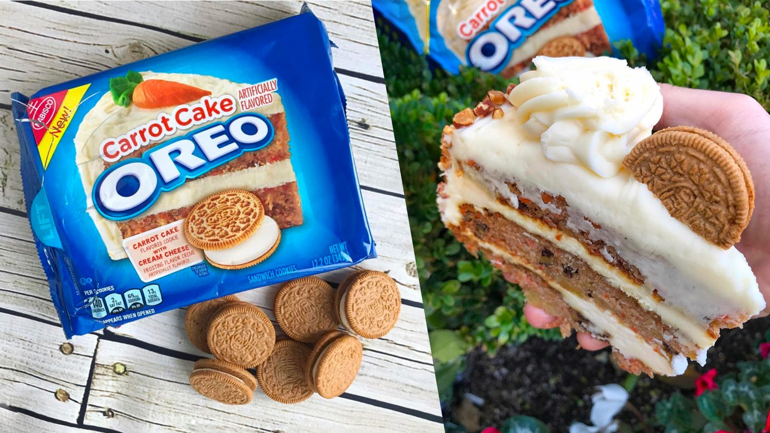 New Carrot Cake Oreos Are Stuffed With Dairy-Free Cheese