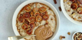 Caramelized Vegan Banana Oatmeal for the Breakfast Win