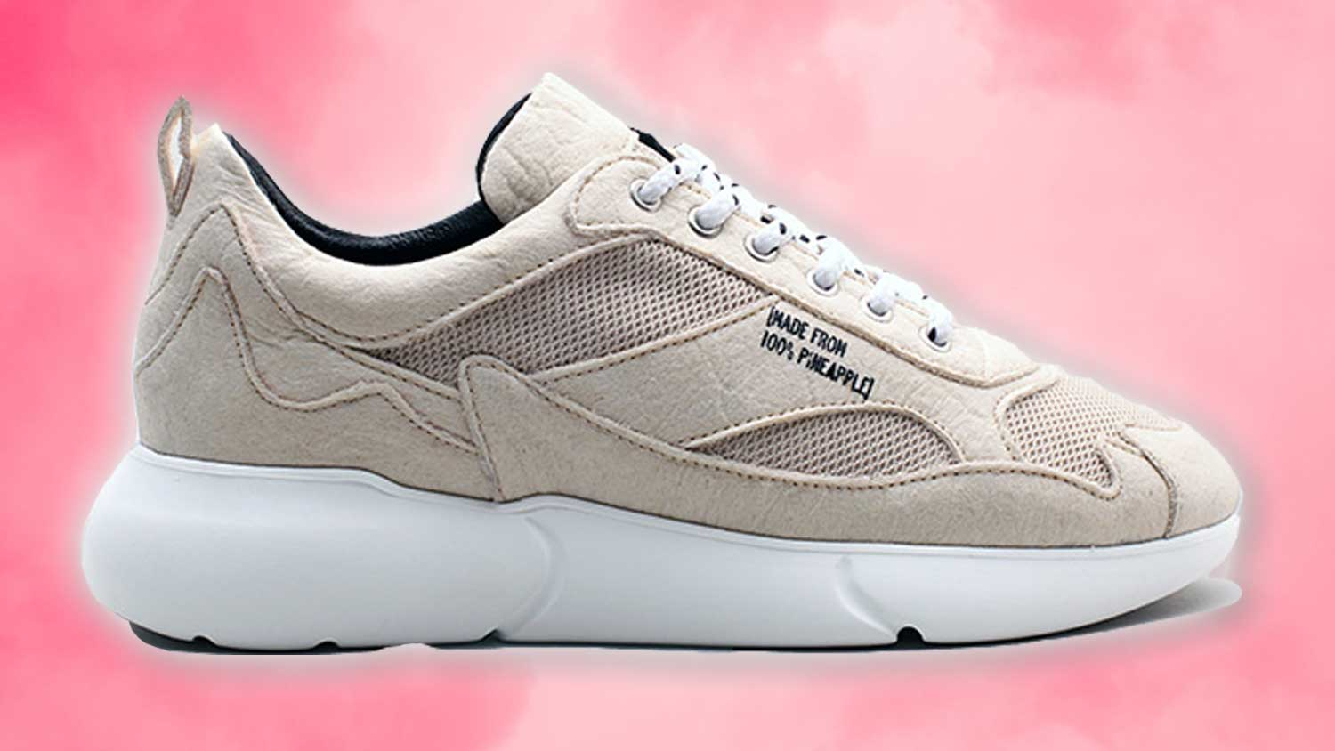 These Vegan Leather Sneakers are Made From Pineapples