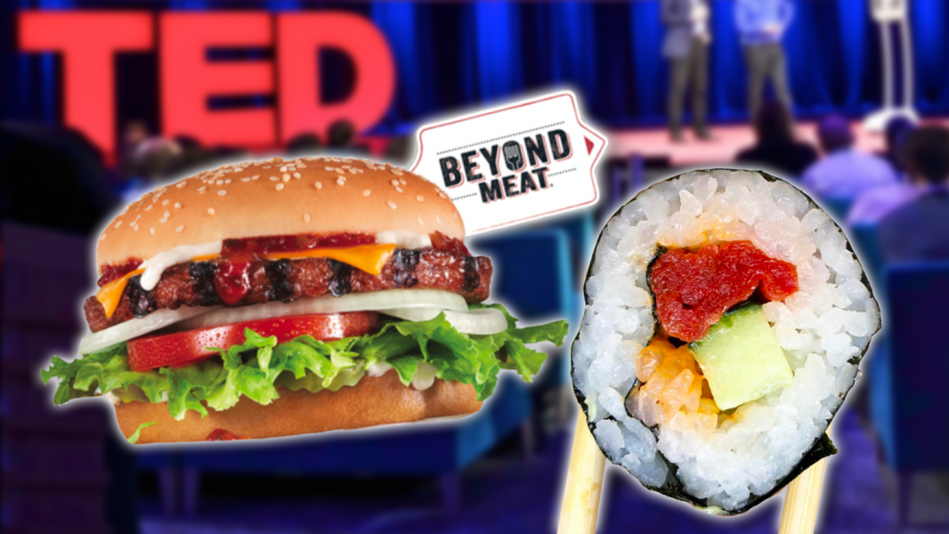 The Best Thing at TED2019 Might Just Be Vegan Burgers and Sushi