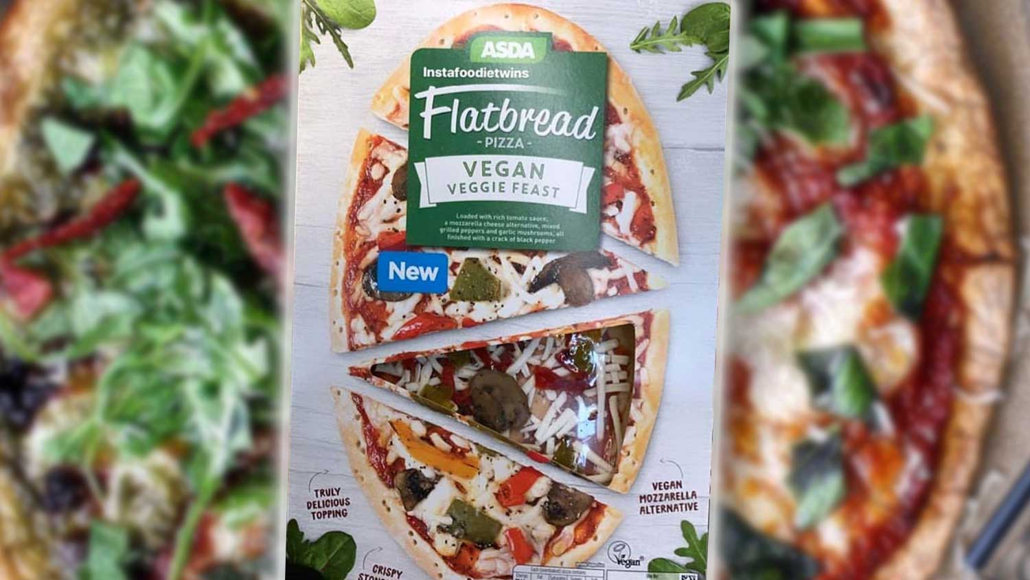 Cheesy Vegan Veggie Feast Pizzas Now at Asda