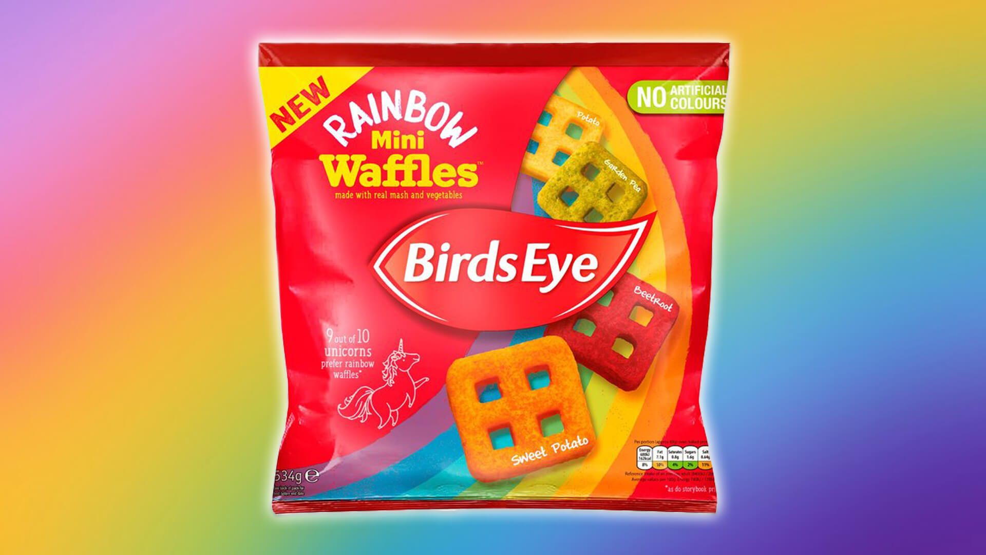Birds Eye's New Vegan Rainbow Waffles Are Made With All the Vegetables