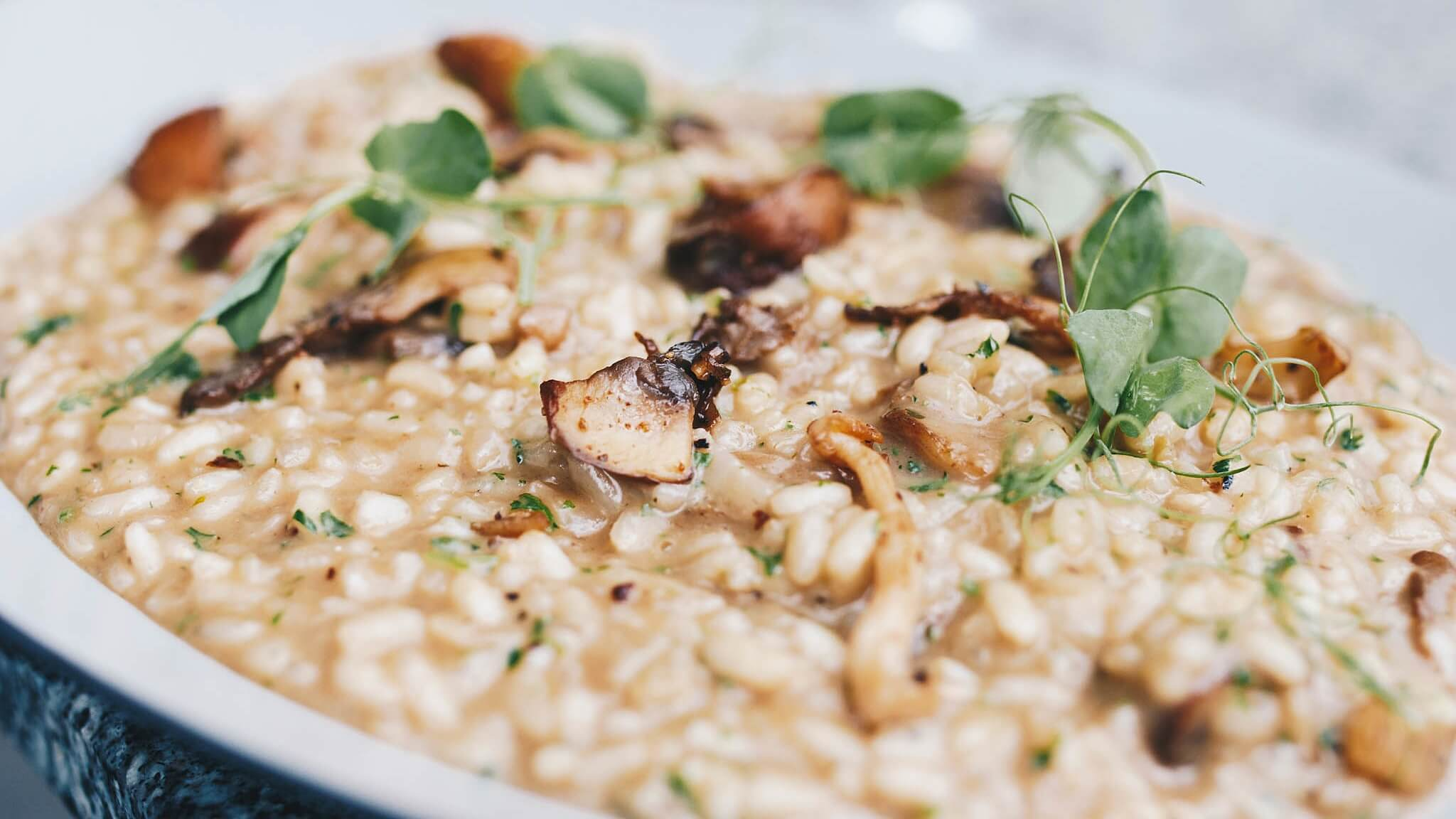 Vegan Risotto With Smoky Tofu and Dairy-Free Oat Cream