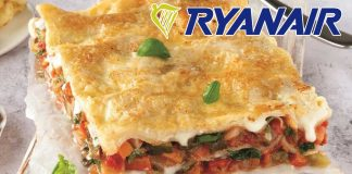 Vegan Lasagna Now Available On Ryanair Flights