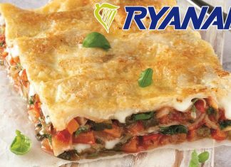Vegan Lasagna Now Available On Ryanair Flights