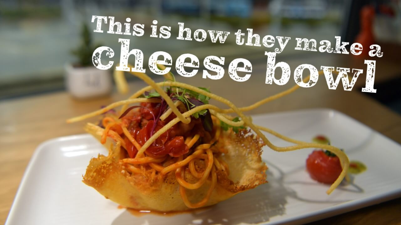 This Restaurant Serves Spaghetti In Bowls Made Out of Vegan Cheese
