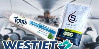 WestJet Airline Amenity Kits Are Vegan Now