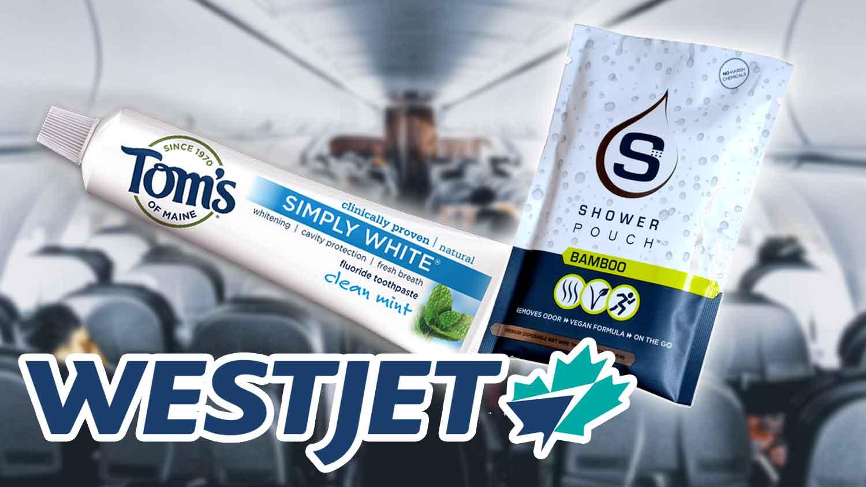 WestJet Airline Amenity Kits Are Vegan Now