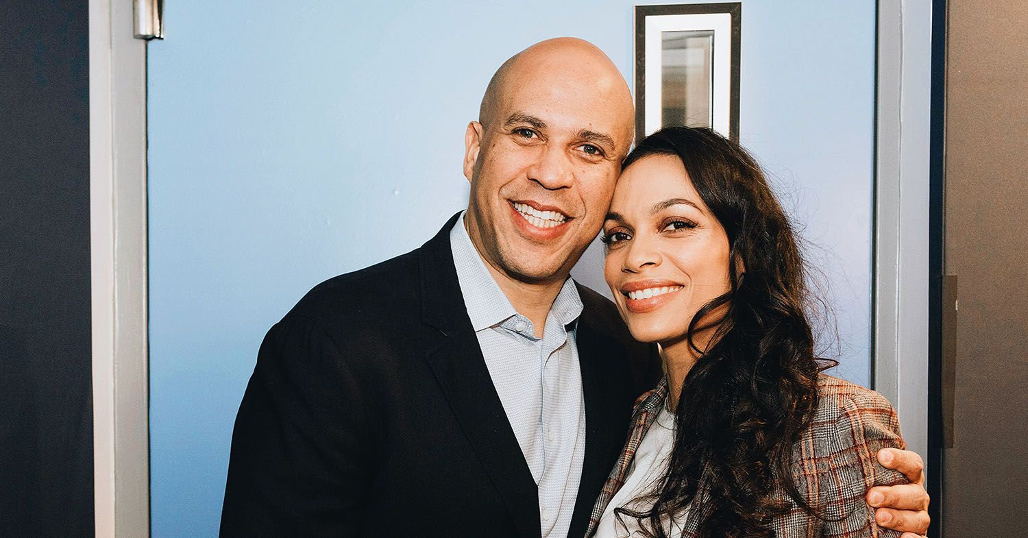 Rosario Dawson and Cory Booker Love Cooking Vegan Meals Together