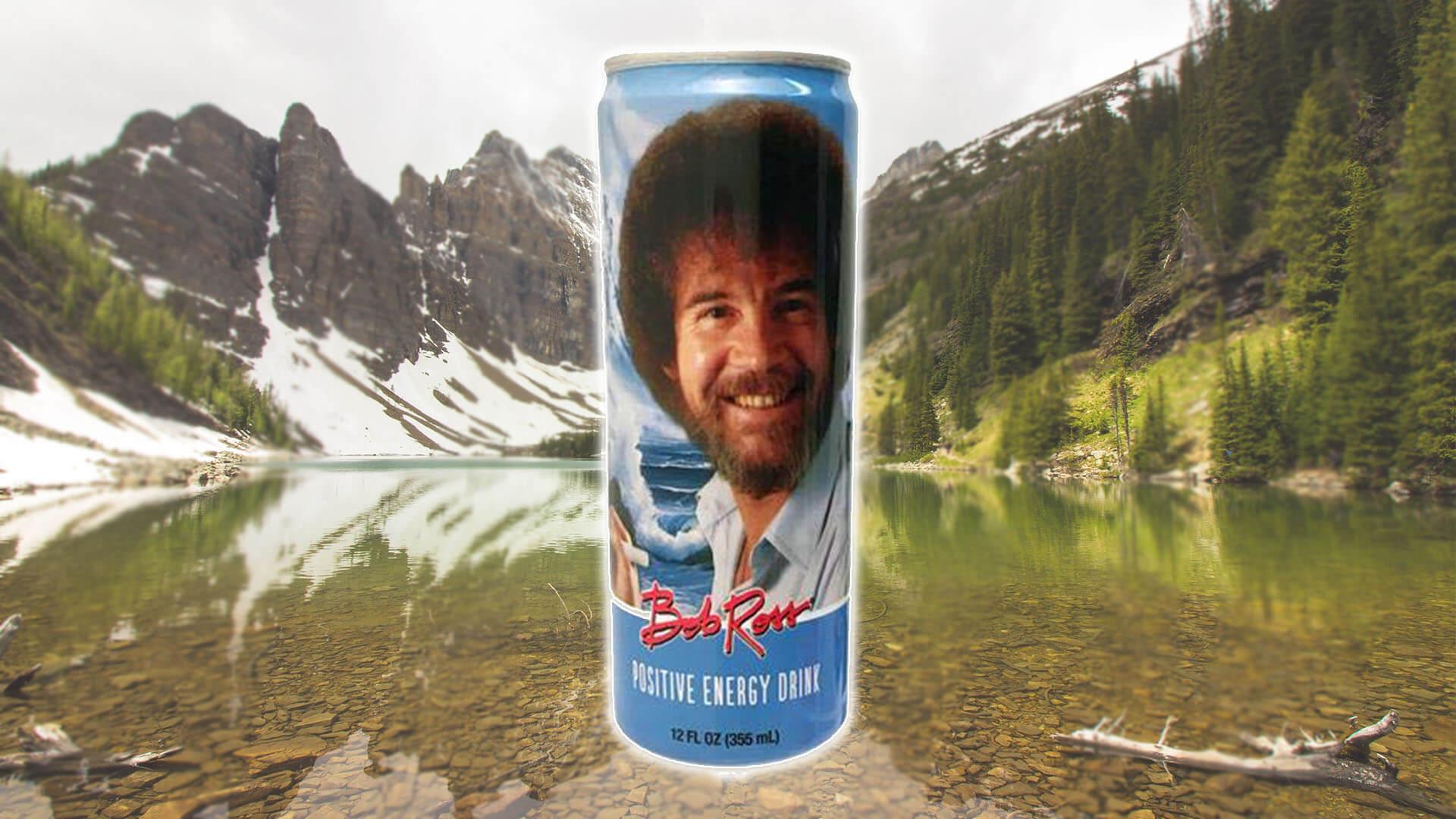 This Vegan Bob Ross Energy Drink Has 150% of the RDA for B12