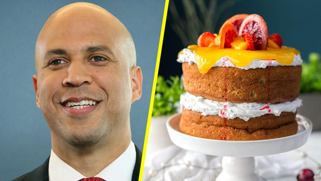 Cory Booker's Vegan 50th Birthday Cake Wins Over the Senate