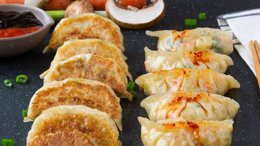 Easy Vegan Tofu Dumplings With Cabbage and Mushrooms