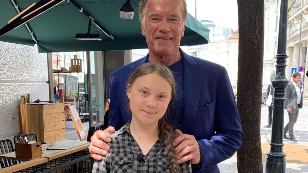 Arnold Schwarzenegger's Hero is Vegan Teen Greta Thunberg