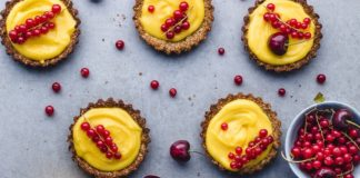 These Raw Vegan Meyer Lemon Tarts Have a Mulberry-Date Crust