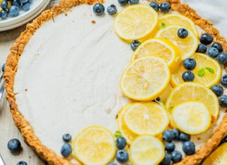 Lemony Vegan Summer Tart With Dairy-Free Coconut Cream