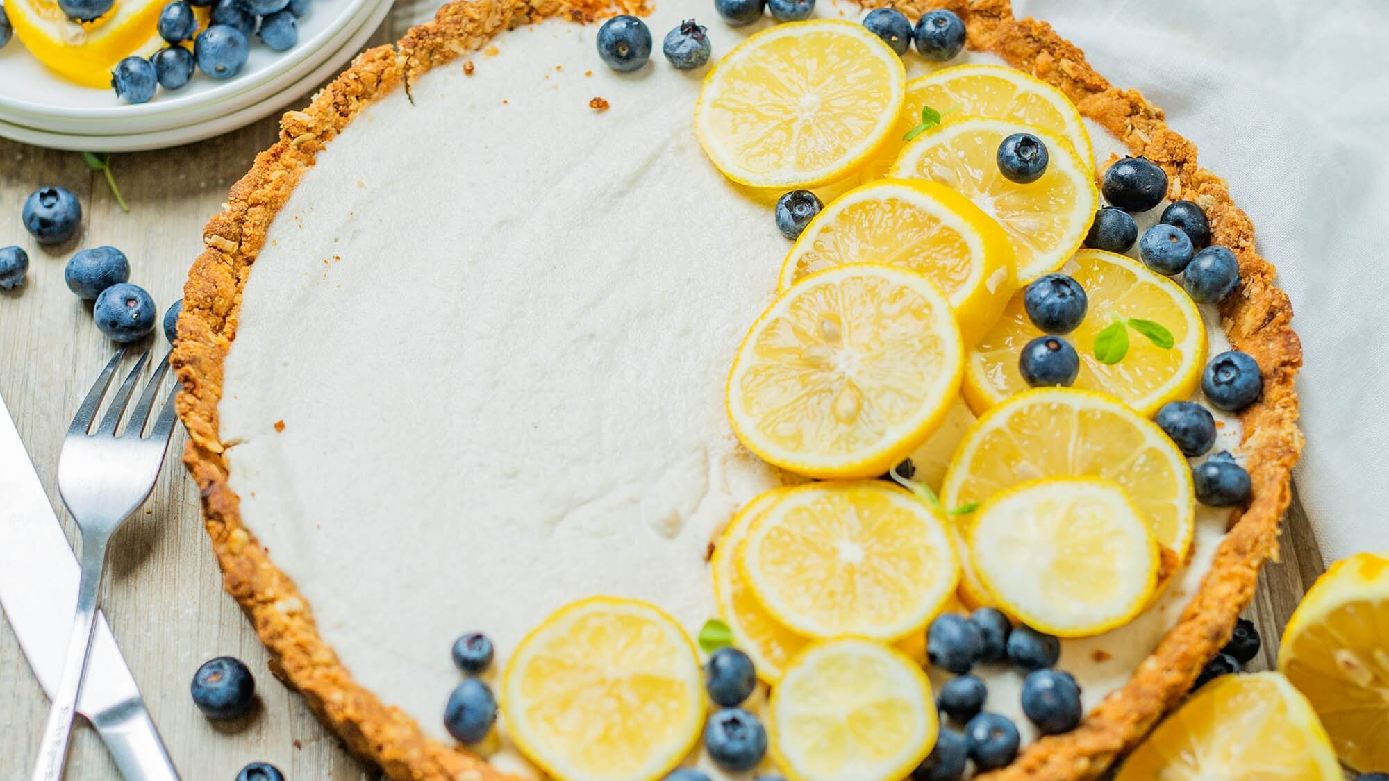 Lemony Vegan Summer Tart With Dairy-Free Coconut Cream