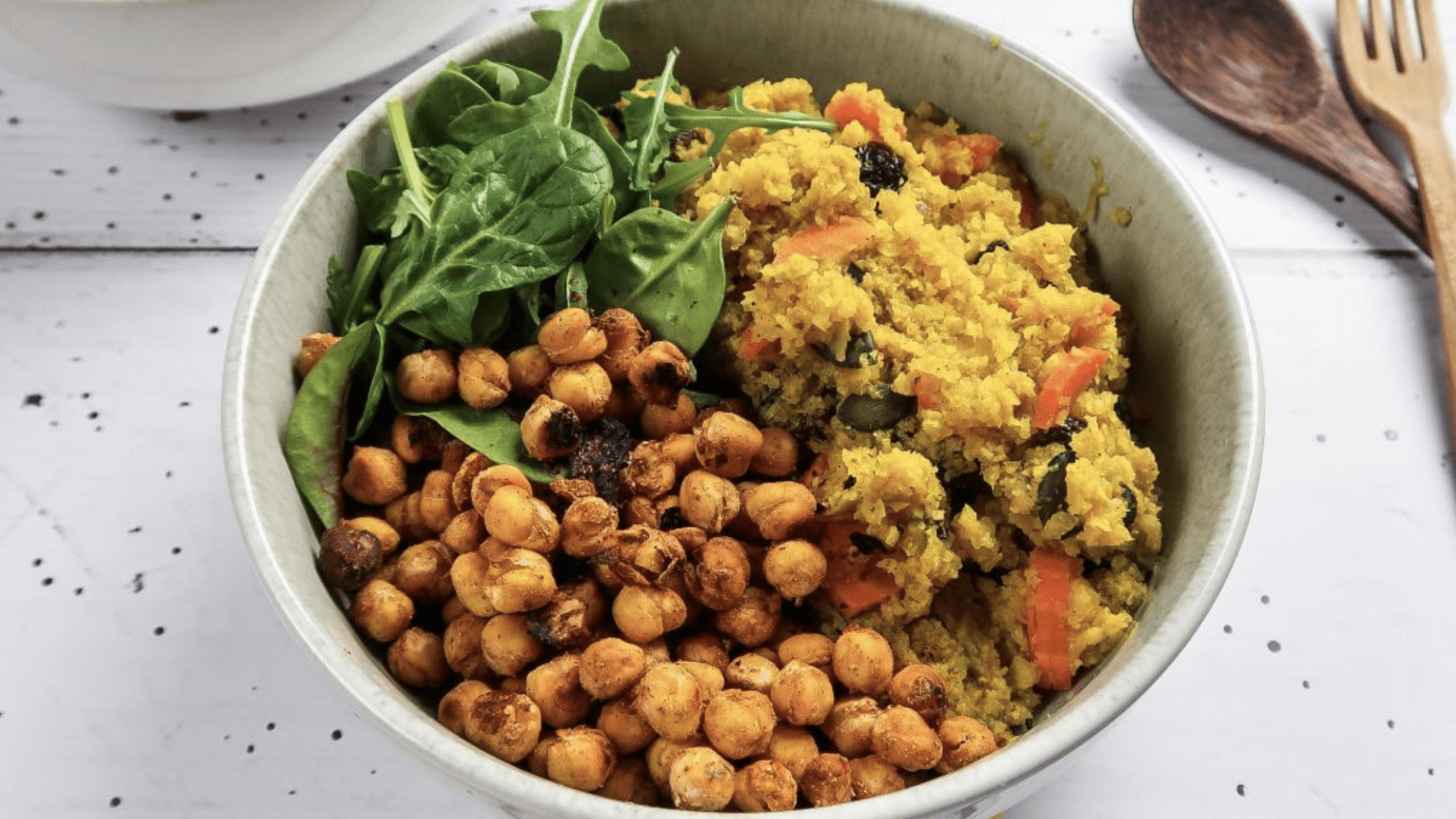 Easy Vegan Moroccan Buddha Bowl With Cauliflower Rice