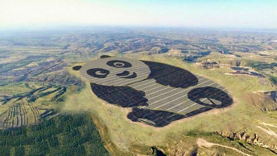 Nothing to See Here, Just a Giant Solar Farm That Looks Like a Panda