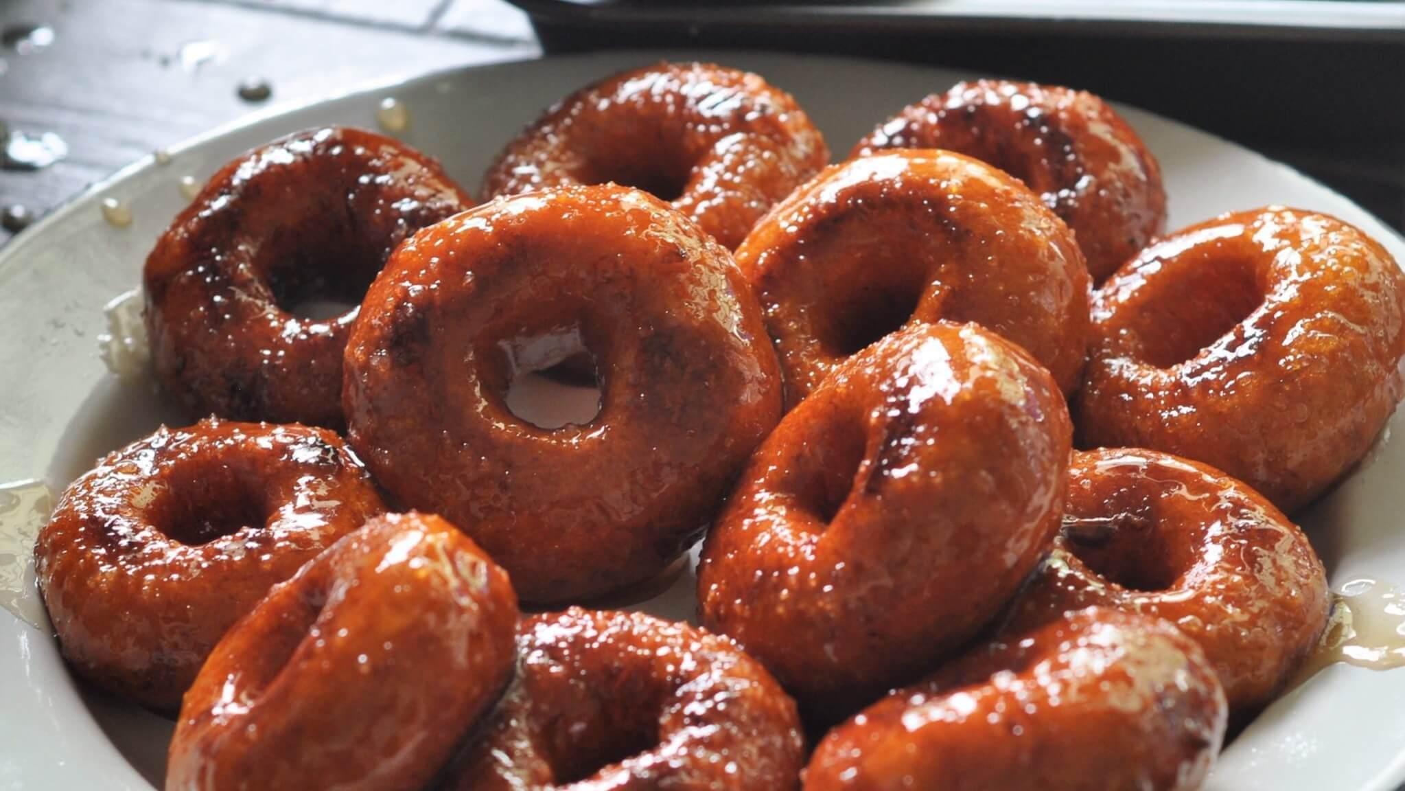 Homemade Hidden Sweet Potato Vegan Donuts