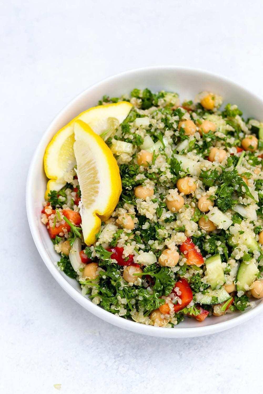 Easy Vegan Tabbouleh Salad With Quinoa