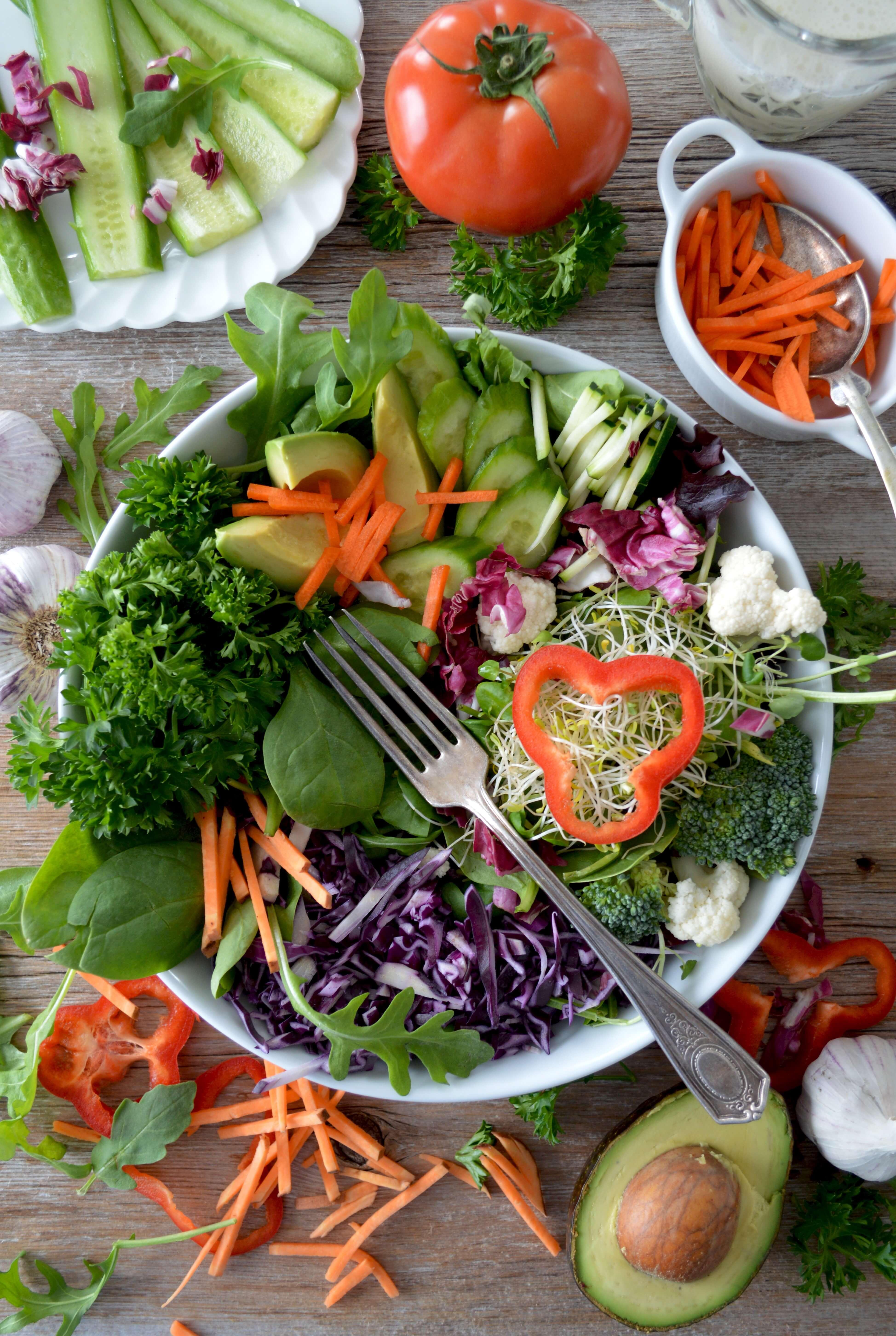 vegan raw salad