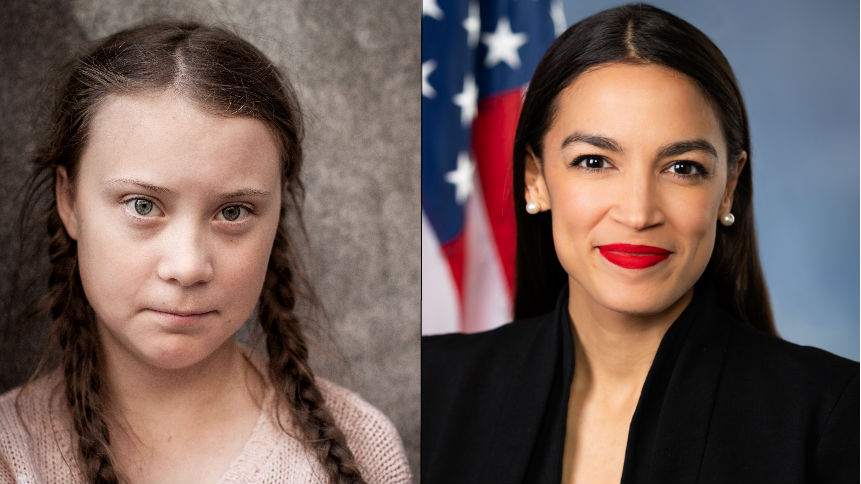 Climate Power Duo Alexandria OC and Greta Thunberg Team Up to Save the Planet
