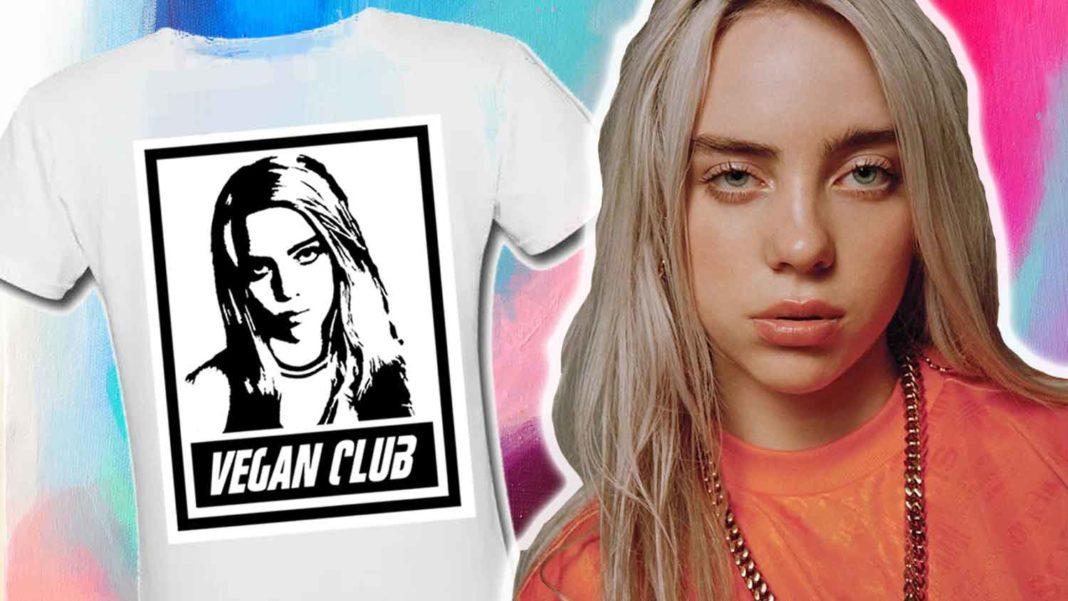 You Can Now Get Billie Eilish Vegan Club T-Shirts