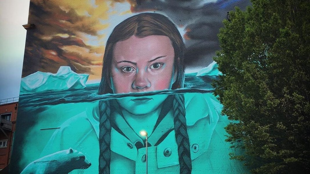 There's Now a Giant 15-Metre Greta Thunberg Mural in Bristol