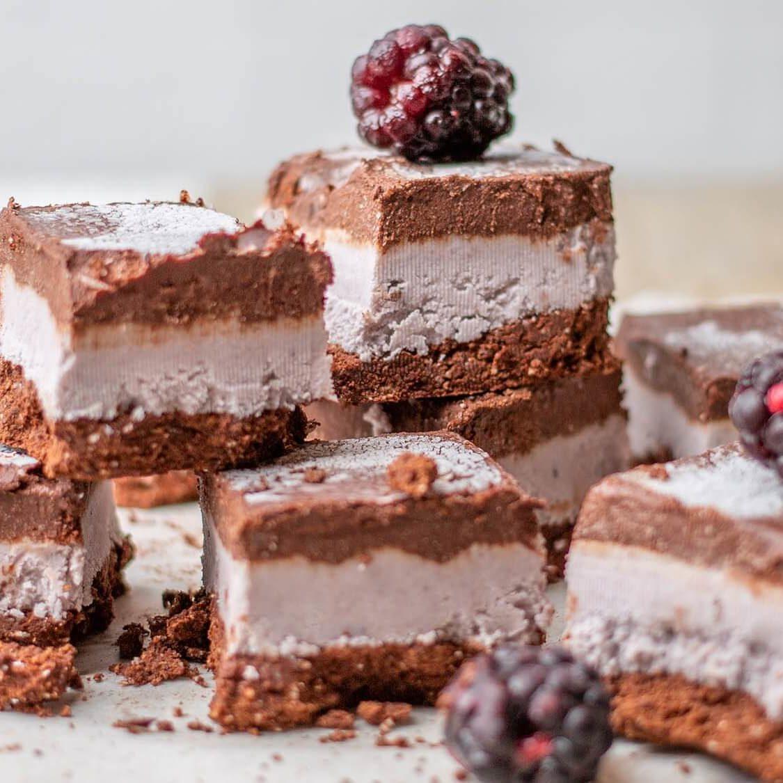 How to Make Dairy-Free Chocolate-Blackberry Ice Cream Sandwiches