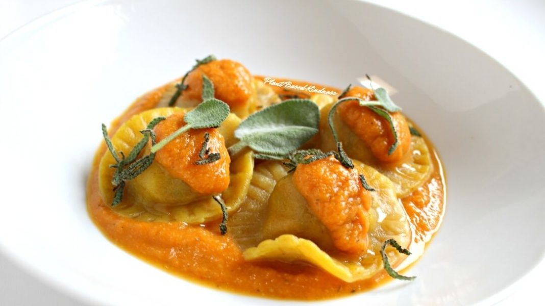 How to Make Vegan Sausage and Pumpkin Ravioli