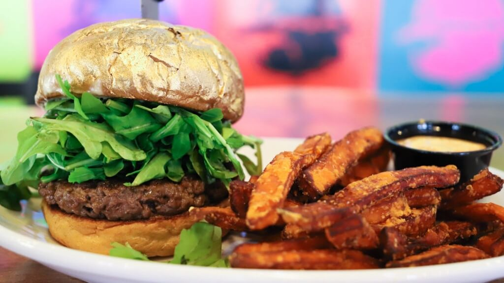 There's a Vegan Burger in Las Vegas Made From 24 Karat Gold