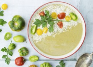 White Beans Make This Vegan Green Tomato Soup Extra Creamy