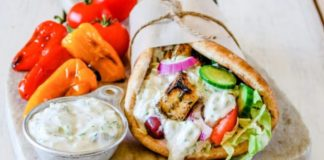 Vegan Tzatziki Sauce Made With Almond Milk Yogurt