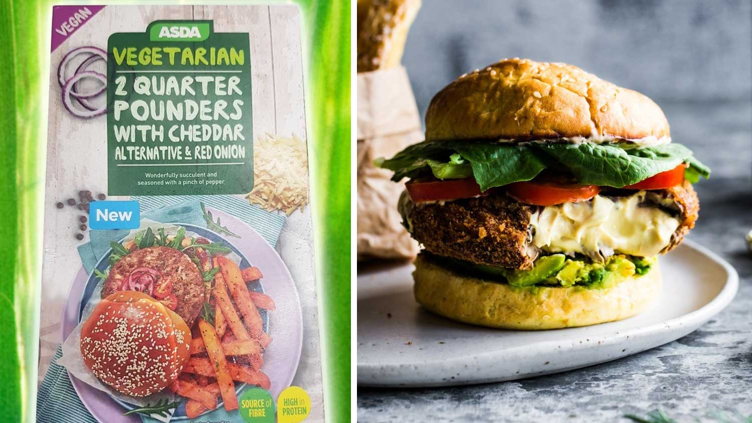 Asda Launches Vegan Burger Stuffed With Dairy-Free Cheese